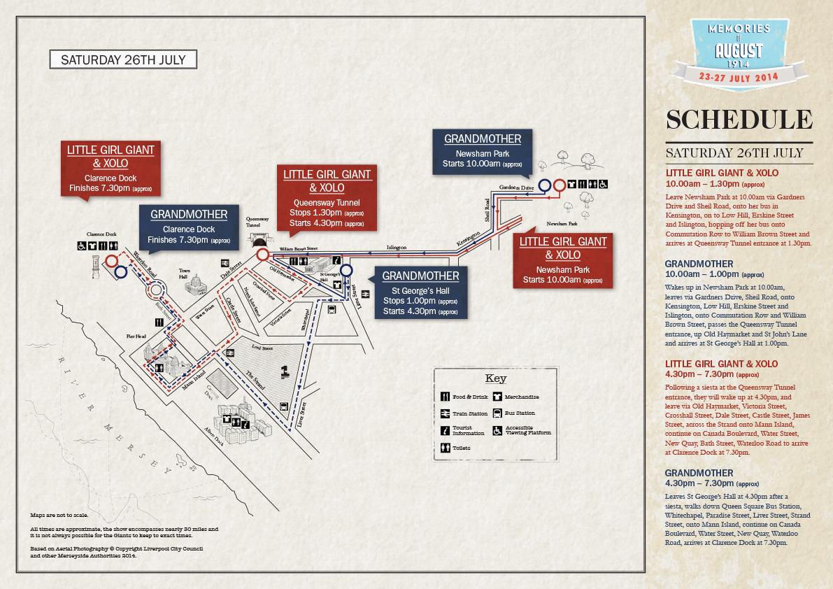 Saturday 26 July Map
