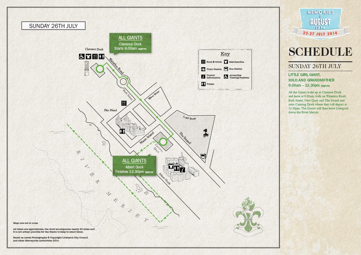 Sunday 27 July Map