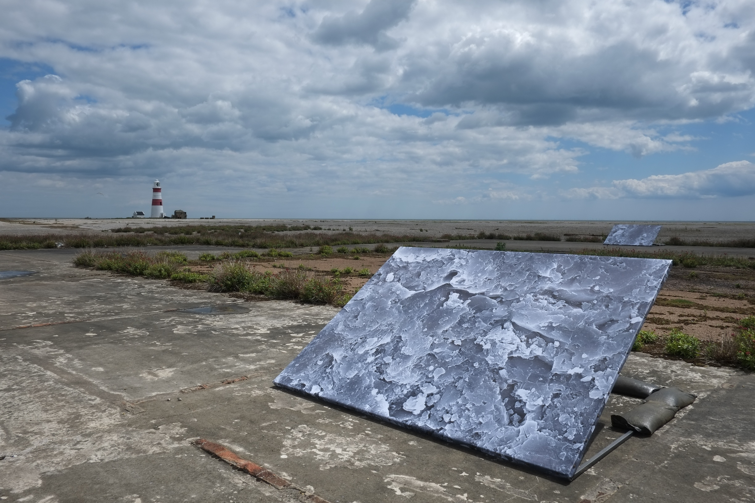 ANYA GALLACCIO, Untitled landscapes, 2014. Image credit  - Owain Thomas, courtesy SNAP Art at the Aldeburgh Festival