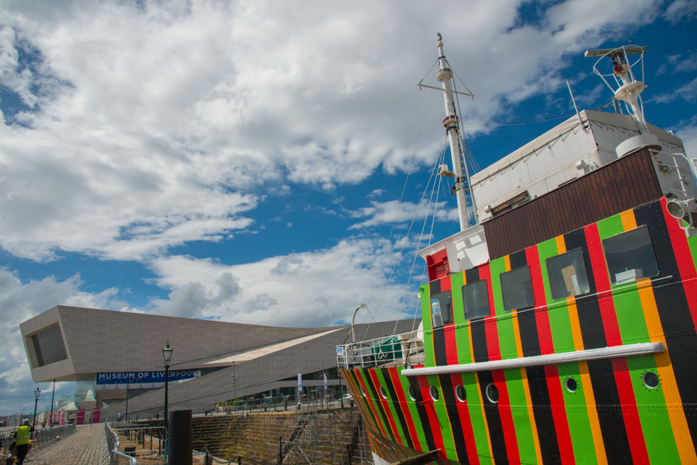 Dazzle Ship Liverpool, Carlos Cruz-Diez, 2014. Image credit - Helen Hunt