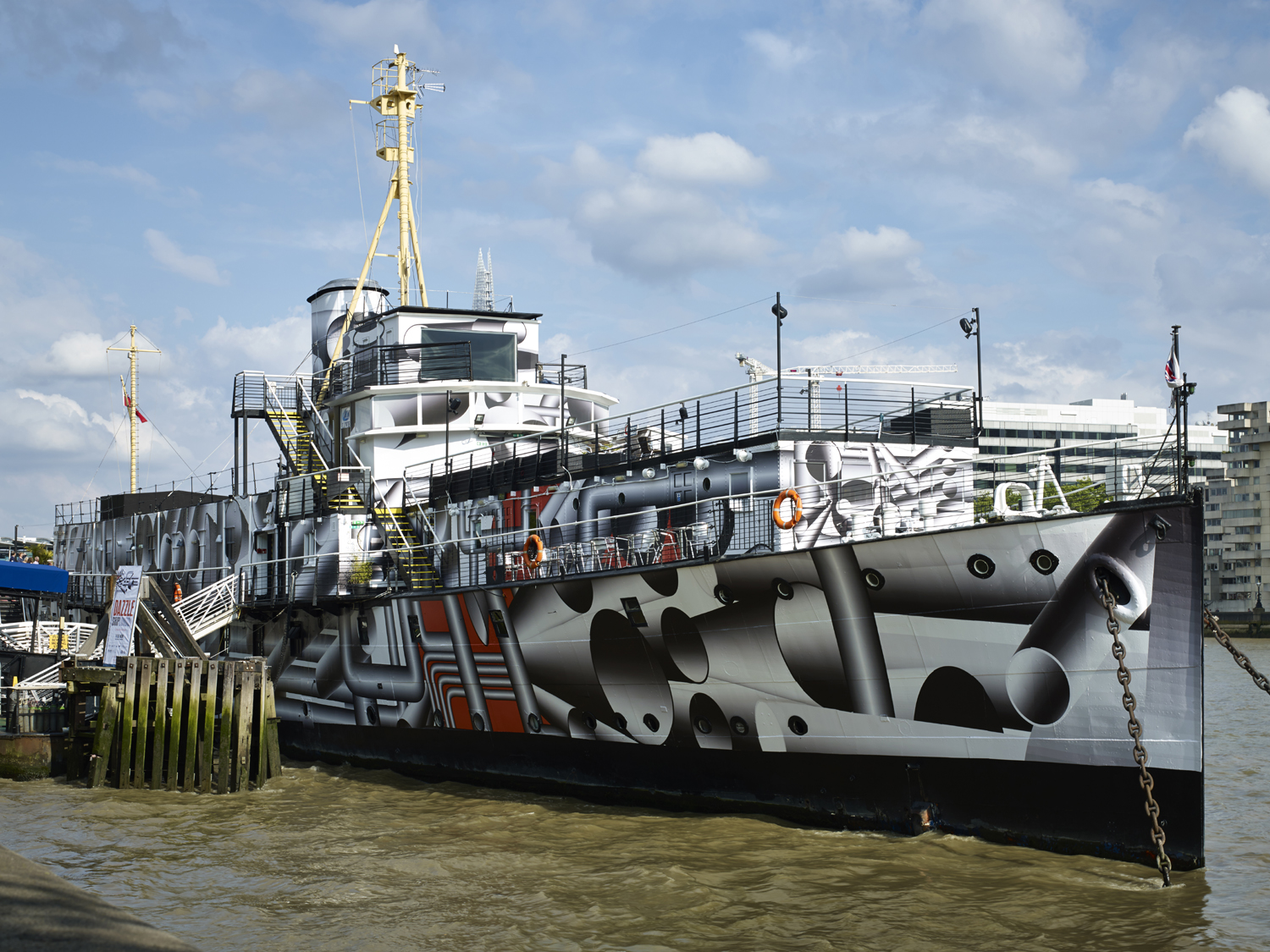 Dazzle Ship, Tobias Rehberger, 2014. Image credit - Stephen White