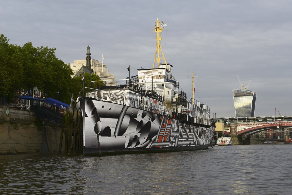 Dazzle Ship, Tobias Rehberger, 2014. Image credit - Chris Wainwright