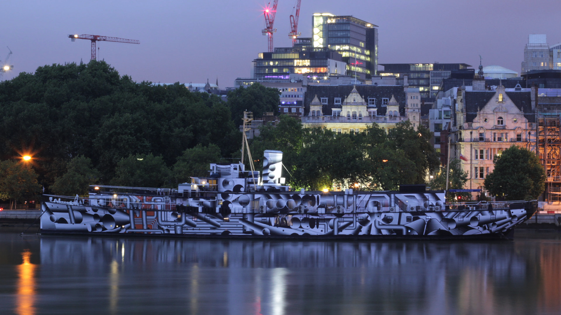 Dazzle Ship, Tobias Rehberger, 2014. Image credit - David Kew