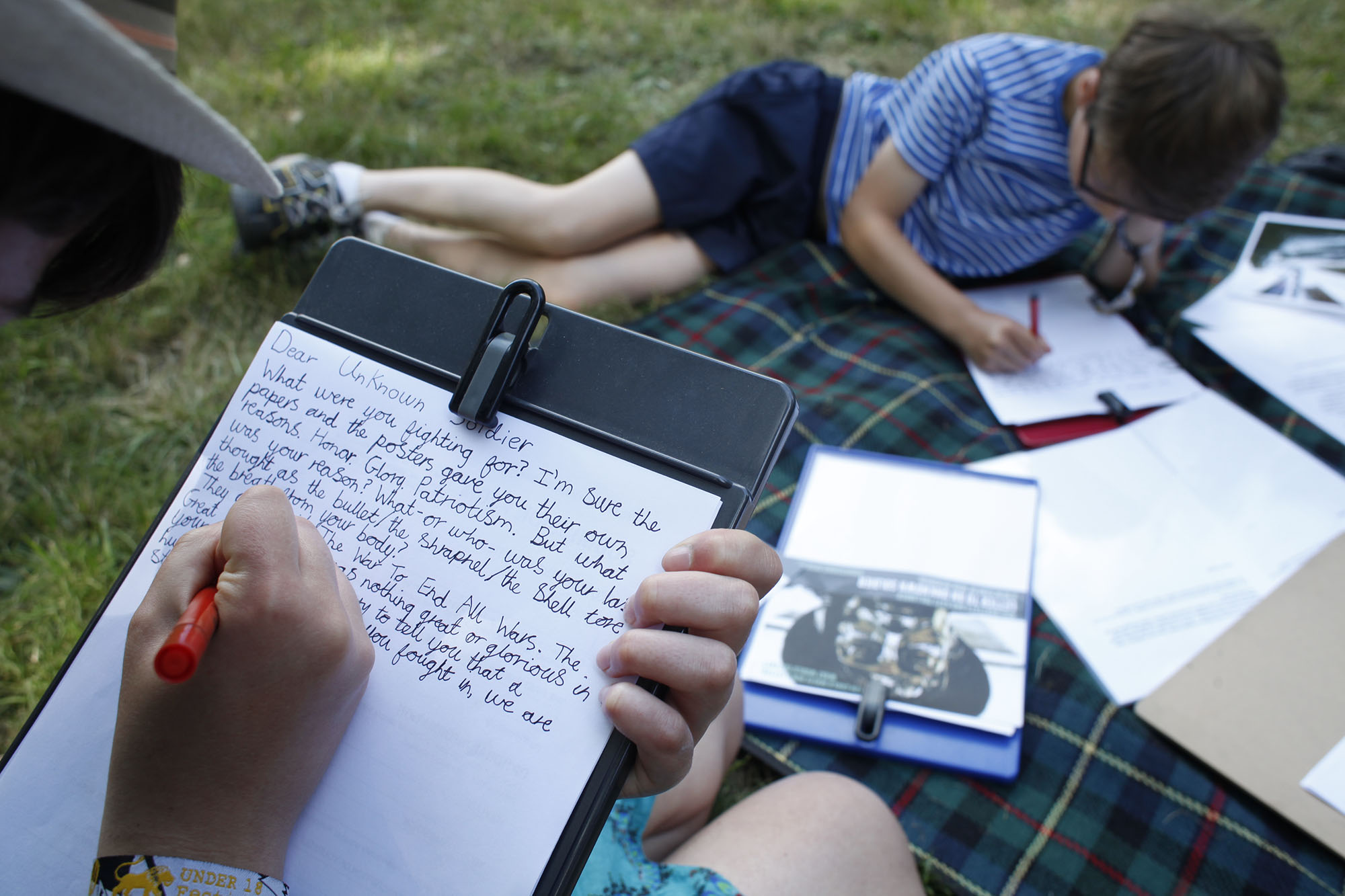 LETTER TO AN UNKNOWN SOLDIER at WOMAD, 2014. Image credit - Gideon Mendel