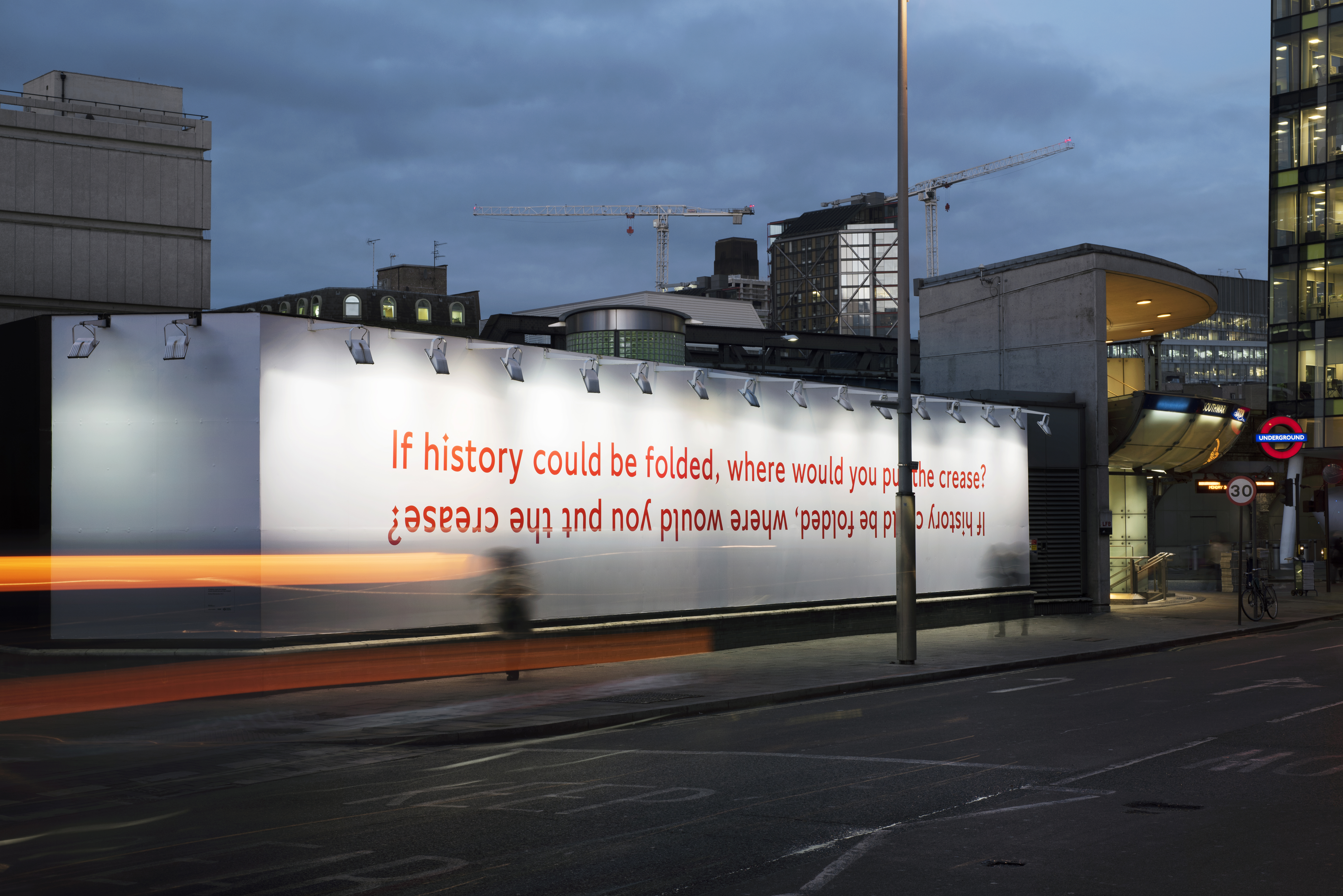 If history could be folded, where would you put the crease?, Richard Wentworh, 2014