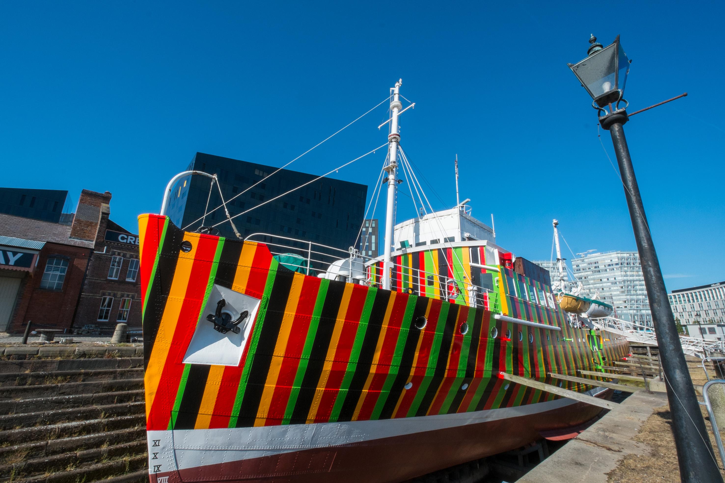 Dazzle Ship Liverpool, Carlos Cruz-Diez, 2014. Image credit - Mark McNulty [3]