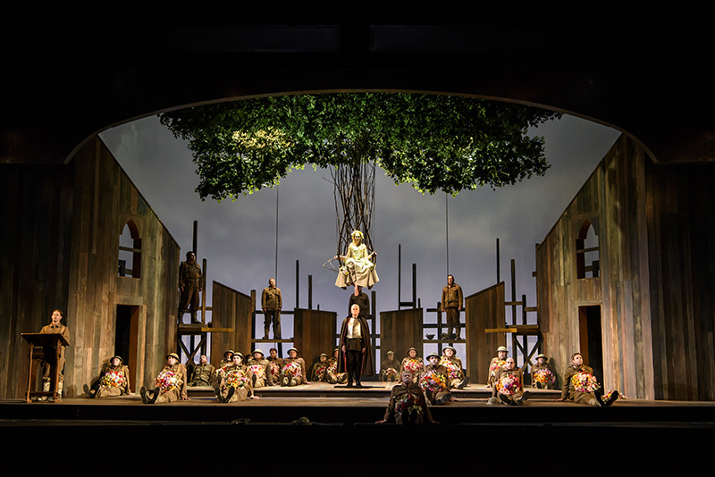 In Parenthesis_ WNO,COMPOSER; Iain Bell, Private John Ball; Andrew Bidlack,Bard of Brittannia_HQ Officer; Peter Coleman_Wright,Bard of Germania_Alice the Barmaid_The Queen of the Woods; Alexandra Deshorties,Lieutenant Jenkins; George Humphreys,Lanc
