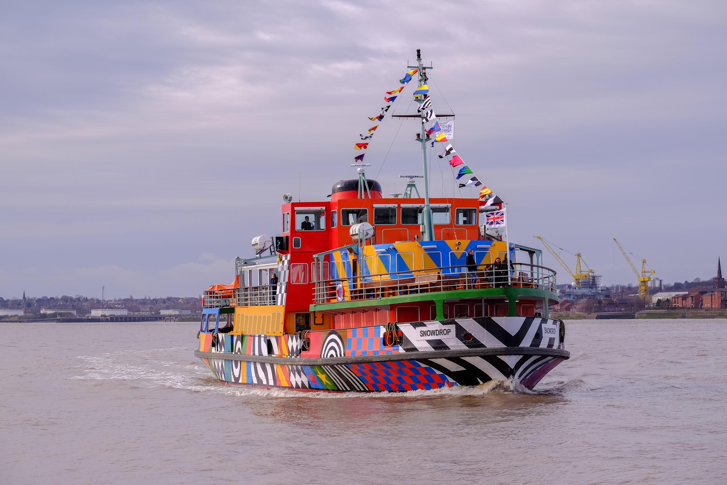 Dazzle Ferry Mersey, Everybody Razzle Dazzle, Sir Peter Blake, 2015. Image credit - Mark McNulty