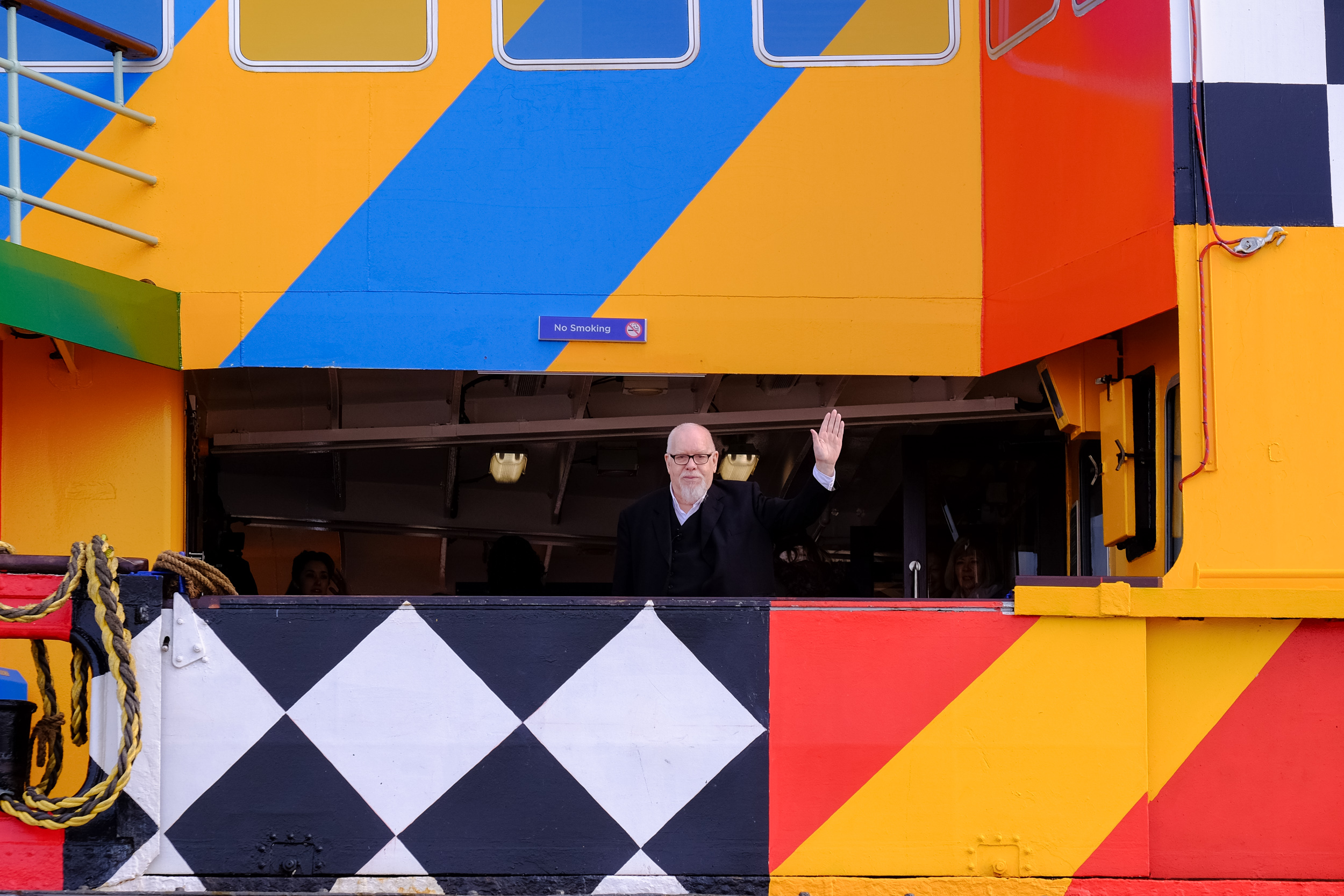 Dazzle Ferry Mersey, Everybody Razzle Dazzle, Sir Peter Blake, 2015. Image credit - Mark McNulty
