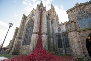 The Poppies open at Hereford Cathedral 2018