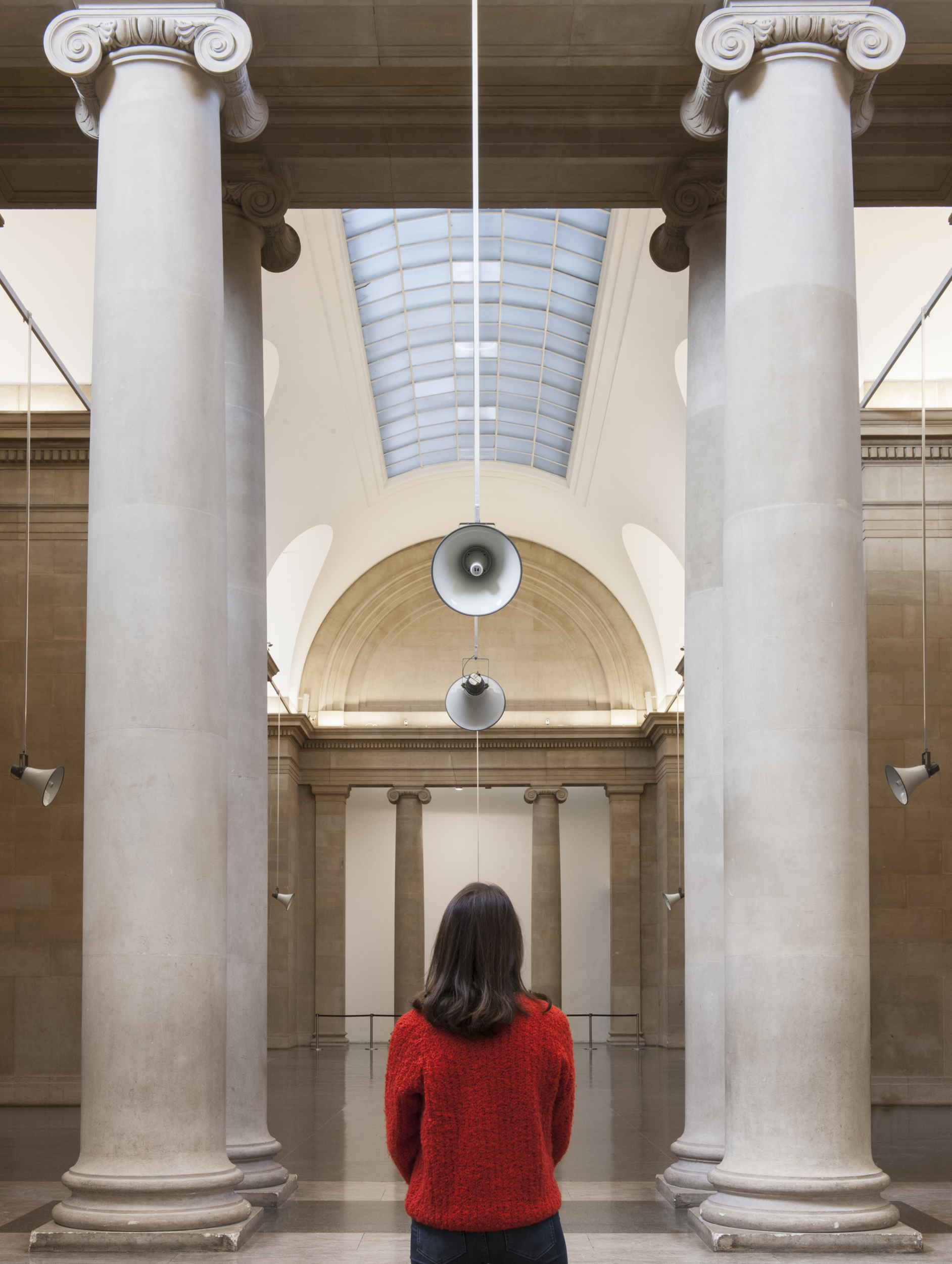 Installation views of War Damaged Musical Instruments by Susan Philipsz at Tate Britain