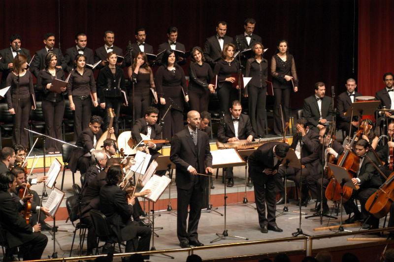 العربية_Orchestra of Syrian Musicians & conductor Issam Rafea