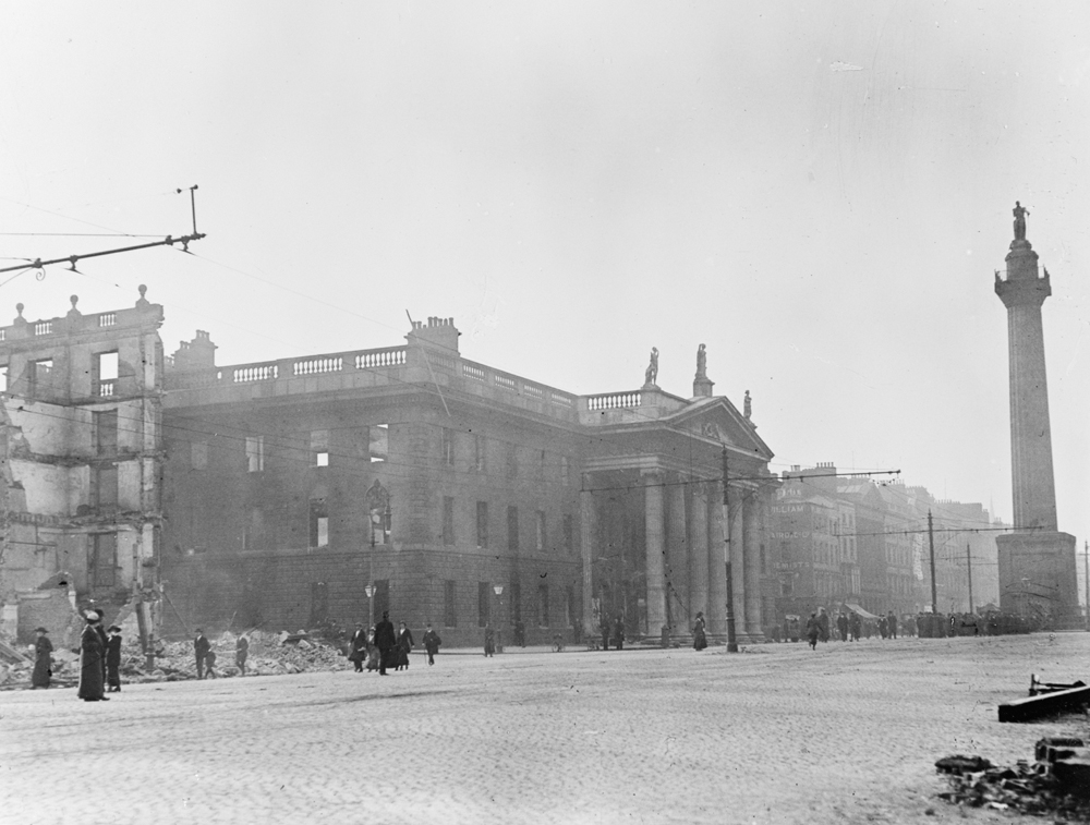 The G.PO. Sackville Street, centre of the Easter Rising 1916.