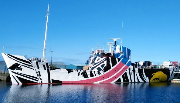 THE FIRST DAZZLE SHIP IN SCOTLAND IS UNVEILED