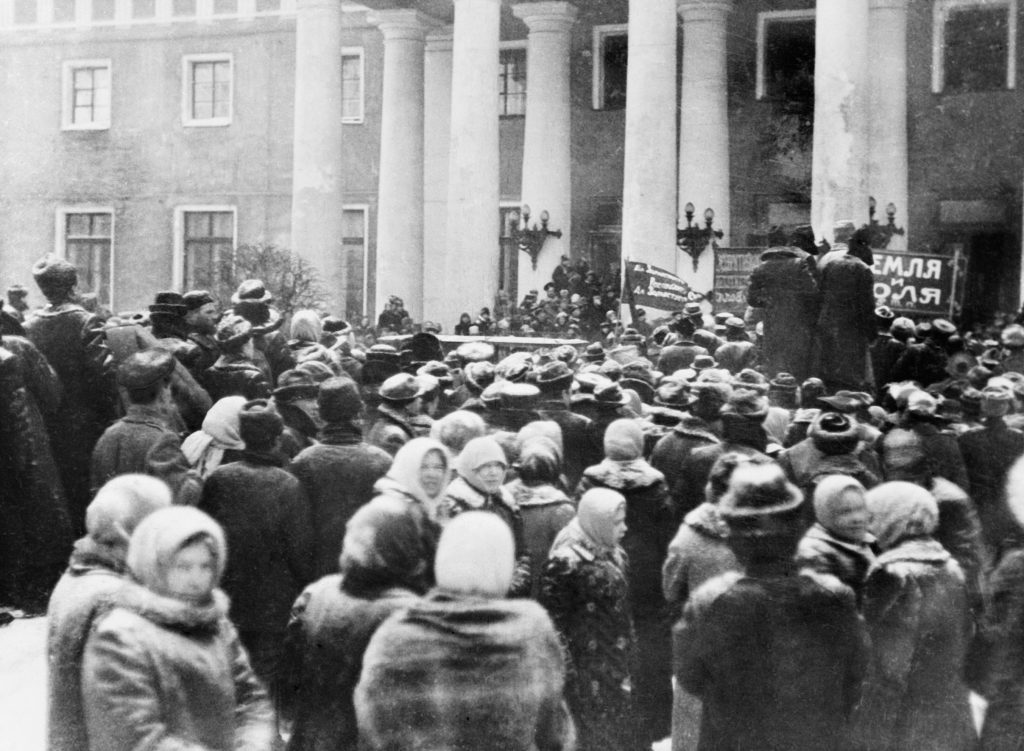 THE RUSSIAN REVOLUTION: THE OVERTHROW OF THE TSAR, MARCH 1917, photograph