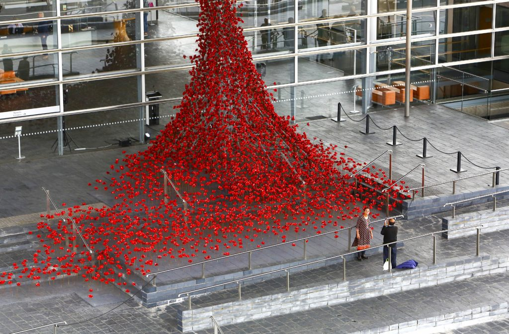 Weeping Window at Y Senedd, the National Assembly for Wales in Cardiff Photo credit: Geoff Caddick/PA Wire