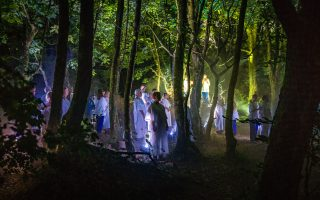Choir in the woods, 100 Unearth, WildWorks, Steve Tanner