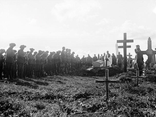 WWI era photo of a burial