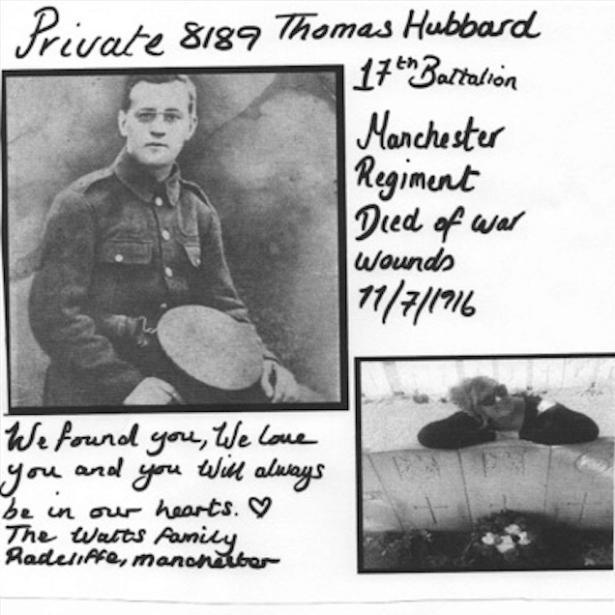 Jenna Watts for My great Uncle Thomas Hubbard