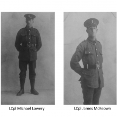 Jordan Blunsom for LCpl Michael Lowery and LCpl James McKeown