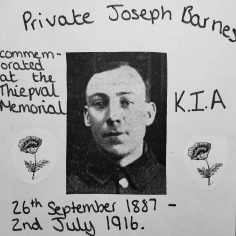 Kelsey Barnes for Dedicated to Private Joseph Barnes