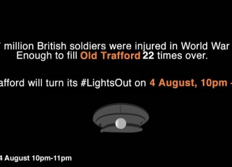 LIGHTS OUT Old Trafford