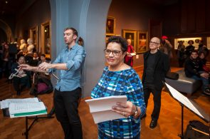 Jackie Kay read poetry as part of the concert